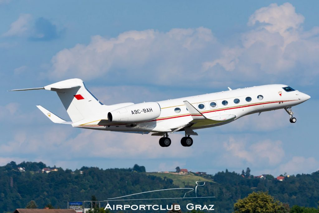 Bahrain Royal Flight Gulfstream G650 A9C-BAH