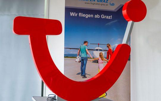 TUI startet mit 15 Direktflügen ab Graz in den Sommer