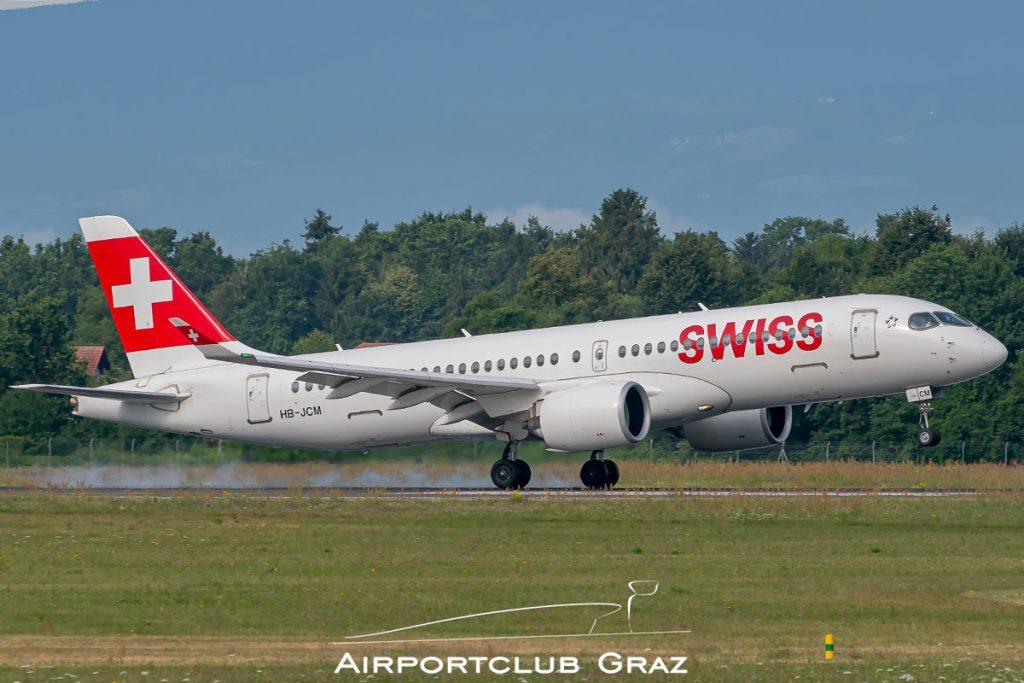 Swiss Airbus A220-300 HB-JCM