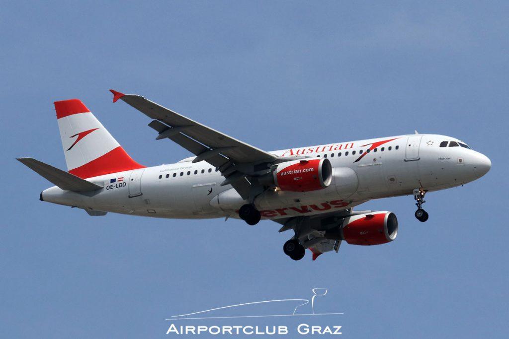 Austrian Airlines Airbus A319-112 OE-LDD
