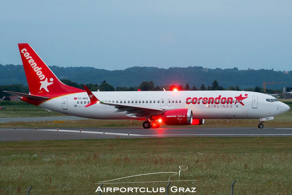 Corendon Airlines Boeing 737-8 MAX TC-MKS