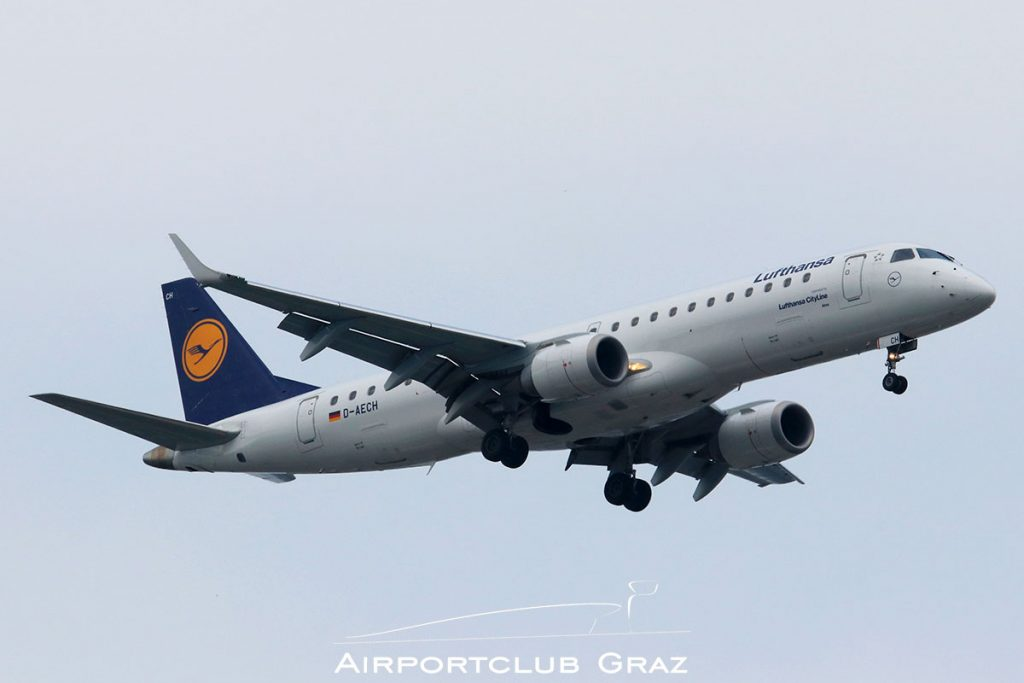 Lufthansa Cityline Embraer 190 D-AECH