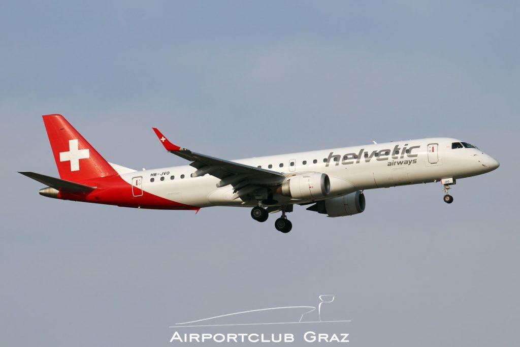Helvetic Airways Embraer 190 HB-JVO