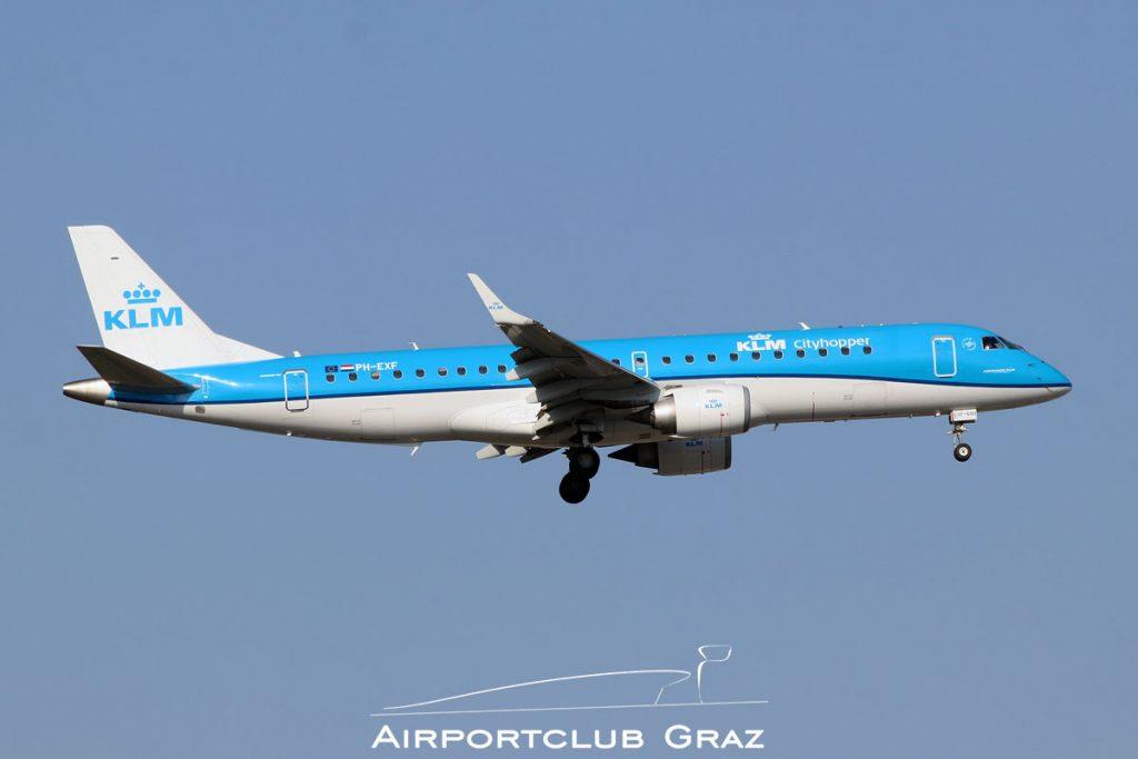 KLM Cityhopper Embraer 190 PH-EXF