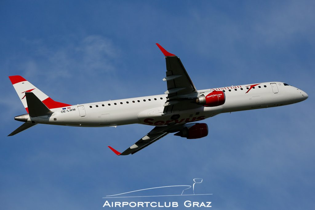 Austrian Airlines Embraer 195 OE-LWM