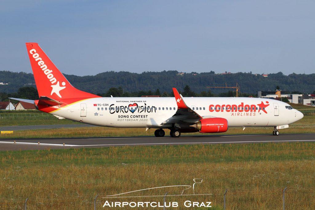 Corendon Airlines Boeing 737-8EH TC-COH