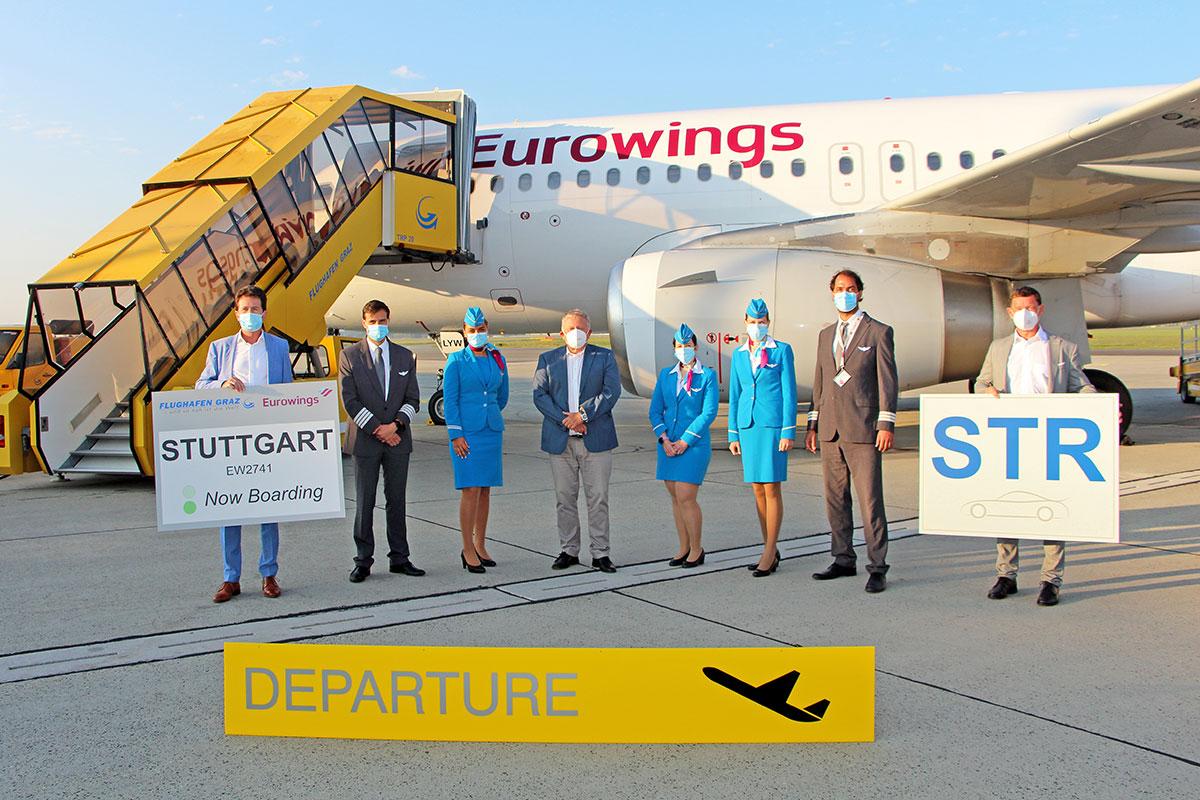 Eurowings startet mit Stuttgart Flügen
